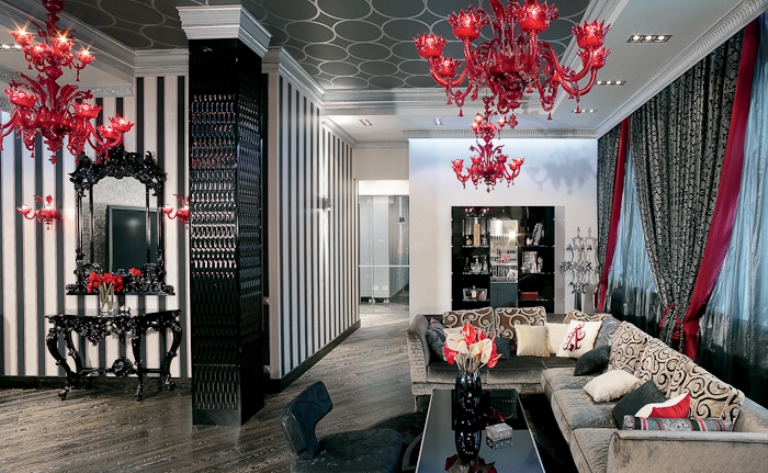 glamorous luxury apartment interior 1jpg